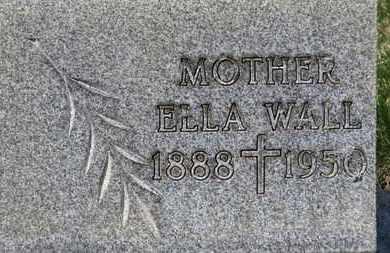 WALL, ELLA - Erie County, Ohio   ELLA WALL - Ohio Gravestone Photos