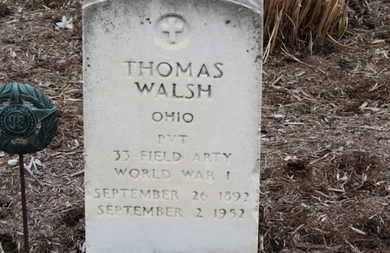 WALSH, THOMAS - Erie County, Ohio   THOMAS WALSH - Ohio Gravestone Photos