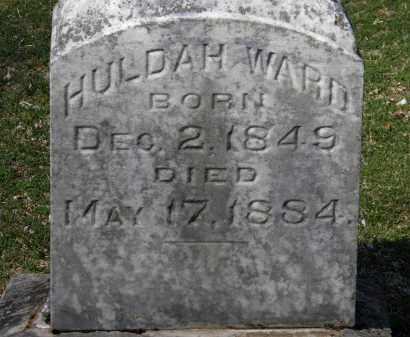 WARD, HULDAH - Erie County, Ohio   HULDAH WARD - Ohio Gravestone Photos