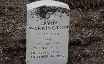 WARRINGTON, ERVIN - Erie County, Ohio | ERVIN WARRINGTON - Ohio Gravestone Photos