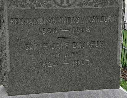 WASHBURN, BENJAMIN SUMMERS - Erie County, Ohio | BENJAMIN SUMMERS WASHBURN - Ohio Gravestone Photos