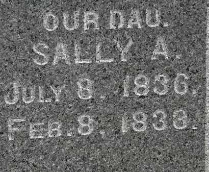 WASHBURN, SALLY A. - Erie County, Ohio | SALLY A. WASHBURN - Ohio Gravestone Photos