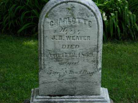 WEAVER, CHARLOTTE - Erie County, Ohio | CHARLOTTE WEAVER - Ohio Gravestone Photos