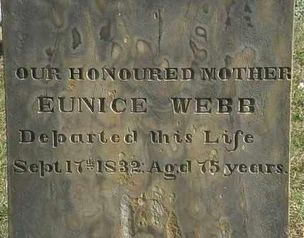 WEBB, EUNICE - Erie County, Ohio   EUNICE WEBB - Ohio Gravestone Photos