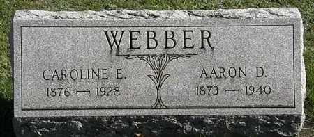 WEBBER, AARON D. - Erie County, Ohio | AARON D. WEBBER - Ohio Gravestone Photos