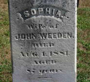 WEEDEN, SOPHIA - Erie County, Ohio | SOPHIA WEEDEN - Ohio Gravestone Photos