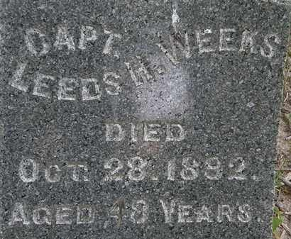 WEEKS, LEEDS H. - Erie County, Ohio | LEEDS H. WEEKS - Ohio Gravestone Photos
