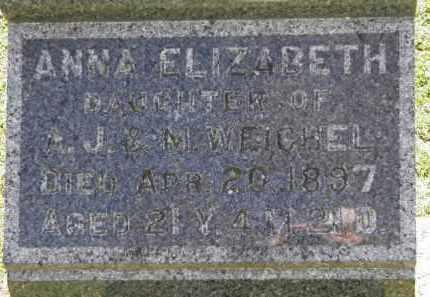 WEICHEL, A.J. - Erie County, Ohio | A.J. WEICHEL - Ohio Gravestone Photos