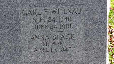 SPACK WEILNAU, ANNA - Erie County, Ohio | ANNA SPACK WEILNAU - Ohio Gravestone Photos