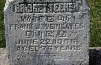 WEINGATES, BRIDGET - Erie County, Ohio | BRIDGET WEINGATES - Ohio Gravestone Photos
