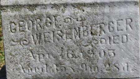 WEISENBERGER, GEORGE - Erie County, Ohio   GEORGE WEISENBERGER - Ohio Gravestone Photos