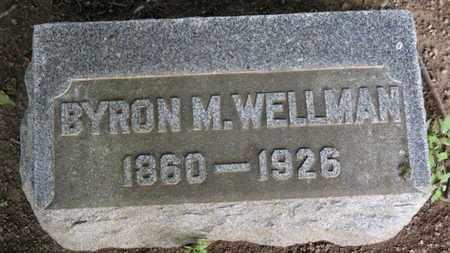 WELLMAN, BYRON M. - Erie County, Ohio   BYRON M. WELLMAN - Ohio Gravestone Photos