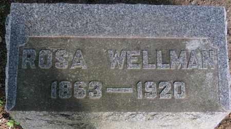 WELLMAN, ROSA - Erie County, Ohio | ROSA WELLMAN - Ohio Gravestone Photos