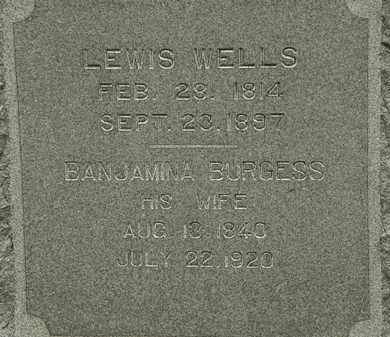 BURGESS WELLS, BANJAMINA - Erie County, Ohio | BANJAMINA BURGESS WELLS - Ohio Gravestone Photos