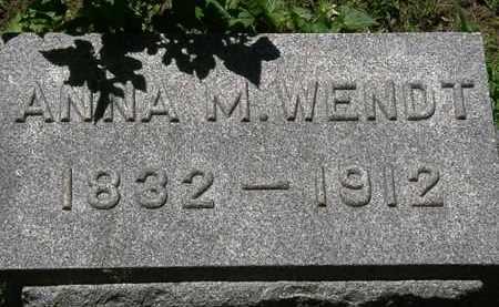WENDT, ANNA M. - Erie County, Ohio | ANNA M. WENDT - Ohio Gravestone Photos