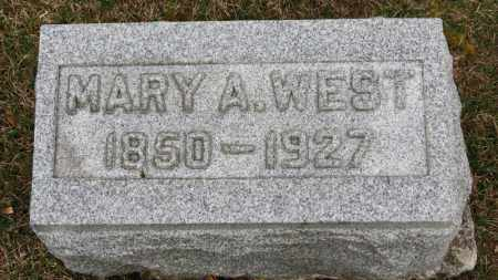 WEST, MARY A. - Erie County, Ohio | MARY A. WEST - Ohio Gravestone Photos