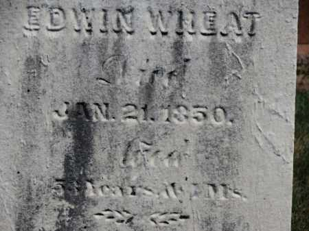 WHEAT, EDWIN - Erie County, Ohio   EDWIN WHEAT - Ohio Gravestone Photos