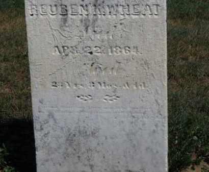 WHEAT, REUBE K. - Erie County, Ohio   REUBE K. WHEAT - Ohio Gravestone Photos