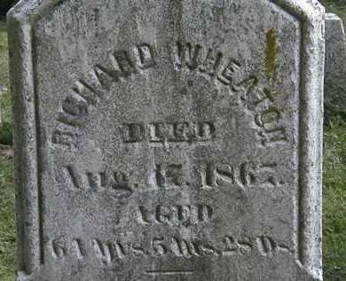 WHEATON, RICHARD - Erie County, Ohio   RICHARD WHEATON - Ohio Gravestone Photos