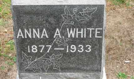 WHITE, ANNA A. - Erie County, Ohio | ANNA A. WHITE - Ohio Gravestone Photos