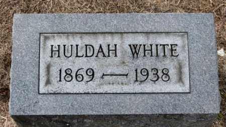 WHITE, HULDA - Erie County, Ohio   HULDA WHITE - Ohio Gravestone Photos