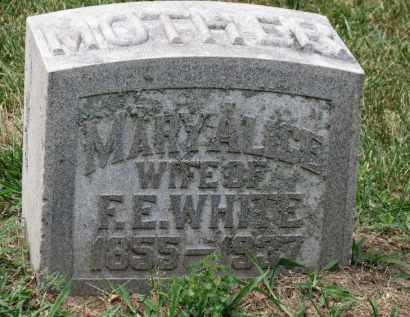 WHITE, MARY ALICE - Erie County, Ohio | MARY ALICE WHITE - Ohio Gravestone Photos