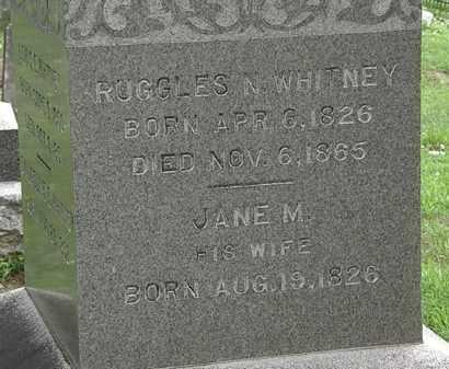 WHITNEY, JANE M. - Erie County, Ohio | JANE M. WHITNEY - Ohio Gravestone Photos