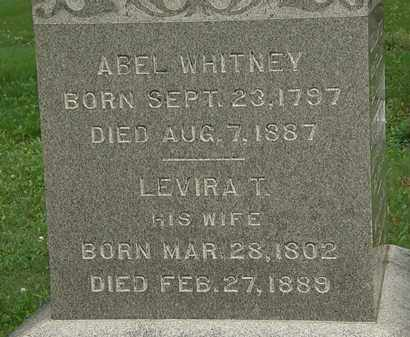 WHITNEY, LEVIRA T. - Erie County, Ohio | LEVIRA T. WHITNEY - Ohio Gravestone Photos
