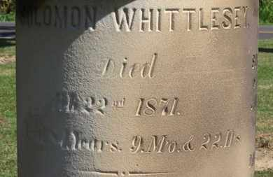 WHITTLESEY, SOLOMON - Erie County, Ohio | SOLOMON WHITTLESEY - Ohio Gravestone Photos