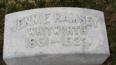 RAMSEY WHITWORTH, JENNIE - Erie County, Ohio | JENNIE RAMSEY WHITWORTH - Ohio Gravestone Photos