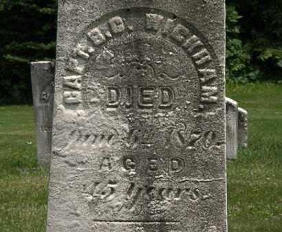 WICKHAM, B.G. - Erie County, Ohio | B.G. WICKHAM - Ohio Gravestone Photos
