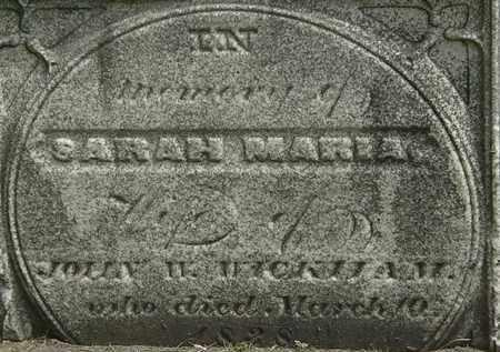WICKHAN, SARAH MARIA - Erie County, Ohio | SARAH MARIA WICKHAN - Ohio Gravestone Photos
