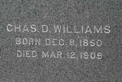 WILLIAMS, CHAS D. - Erie County, Ohio   CHAS D. WILLIAMS - Ohio Gravestone Photos