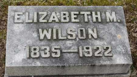 WILSON, ELIZABETH M. - Erie County, Ohio   ELIZABETH M. WILSON - Ohio Gravestone Photos