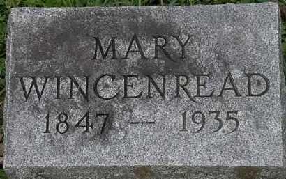 WINCENREAD, MARY - Erie County, Ohio | MARY WINCENREAD - Ohio Gravestone Photos