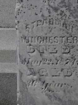 WINCHESTER, STEADMAN - Erie County, Ohio | STEADMAN WINCHESTER - Ohio Gravestone Photos