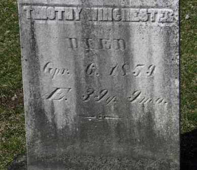 WINCHESTER, TIMOTHY - Erie County, Ohio | TIMOTHY WINCHESTER - Ohio Gravestone Photos