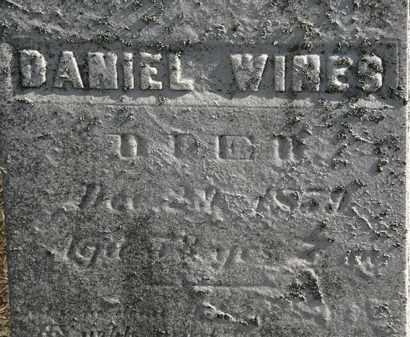 WINES, DANIEL - Erie County, Ohio   DANIEL WINES - Ohio Gravestone Photos