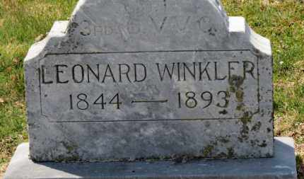 WINKLER, LEONARD - Erie County, Ohio | LEONARD WINKLER - Ohio Gravestone Photos