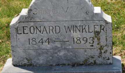WINKLER, LEONARD - Erie County, Ohio   LEONARD WINKLER - Ohio Gravestone Photos