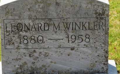 WINKLER, LEONARD M. - Erie County, Ohio | LEONARD M. WINKLER - Ohio Gravestone Photos
