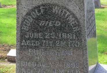 WITTMER, RUDOLPH - Erie County, Ohio | RUDOLPH WITTMER - Ohio Gravestone Photos