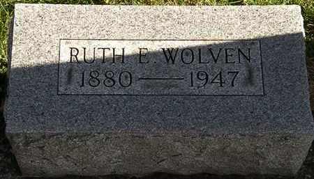 WOLVEN, RUTH E. - Erie County, Ohio   RUTH E. WOLVEN - Ohio Gravestone Photos