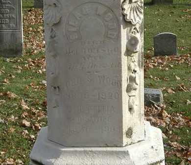 WOOD, LETTITIA - Erie County, Ohio | LETTITIA WOOD - Ohio Gravestone Photos