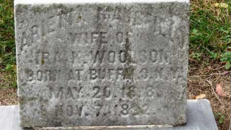 WOOLSON, ARIETTA - Erie County, Ohio | ARIETTA WOOLSON - Ohio Gravestone Photos