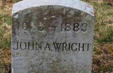 WRIGHT, JOHN A. - Erie County, Ohio | JOHN A. WRIGHT - Ohio Gravestone Photos