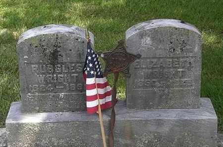 WRIGHT, RUGGLES - Erie County, Ohio | RUGGLES WRIGHT - Ohio Gravestone Photos