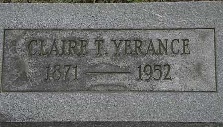 YERANCE, CLAIRE T. - Erie County, Ohio | CLAIRE T. YERANCE - Ohio Gravestone Photos