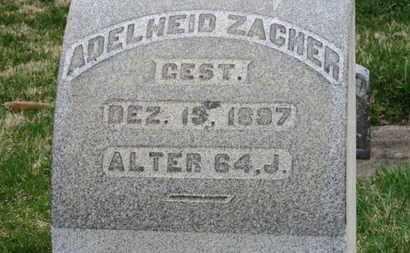 ZACHER, ADELHEID - Erie County, Ohio | ADELHEID ZACHER - Ohio Gravestone Photos