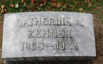 ZEHNER, CATHERINE A. - Erie County, Ohio   CATHERINE A. ZEHNER - Ohio Gravestone Photos